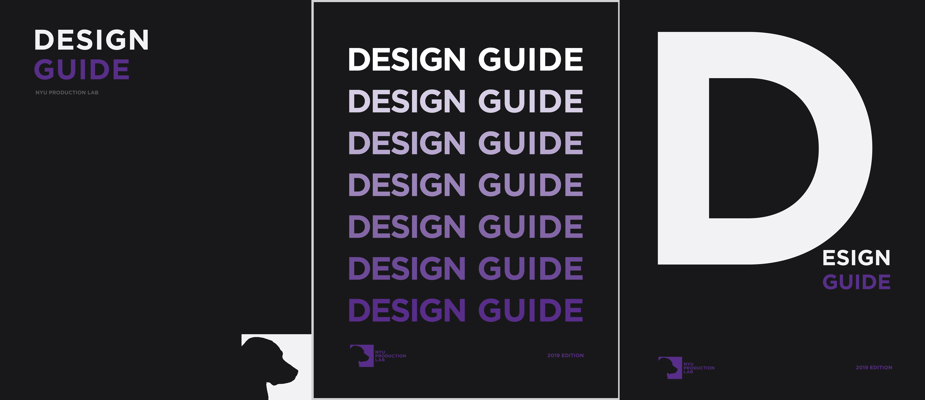 three versions of design guide cover