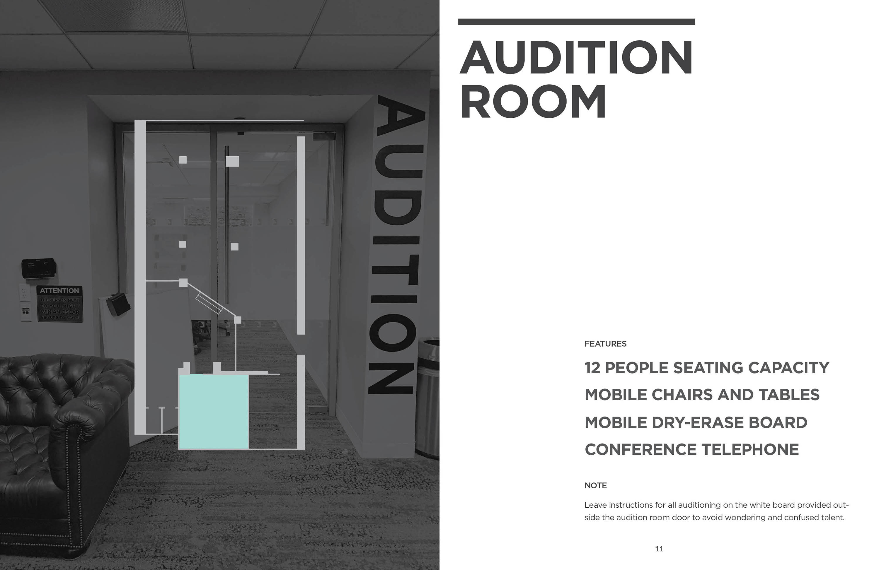 audition room page